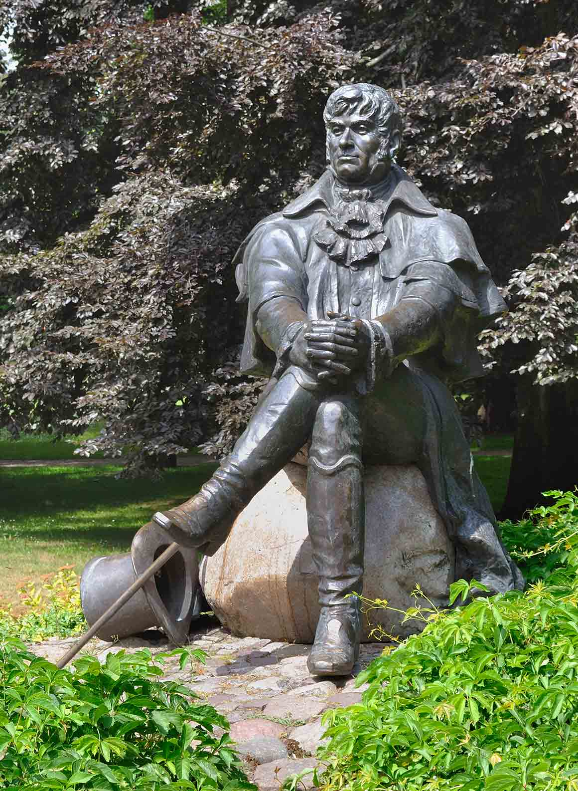 Statue of Jean Georg Haffner in Sopot